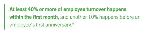 40% or more employee turnover happens