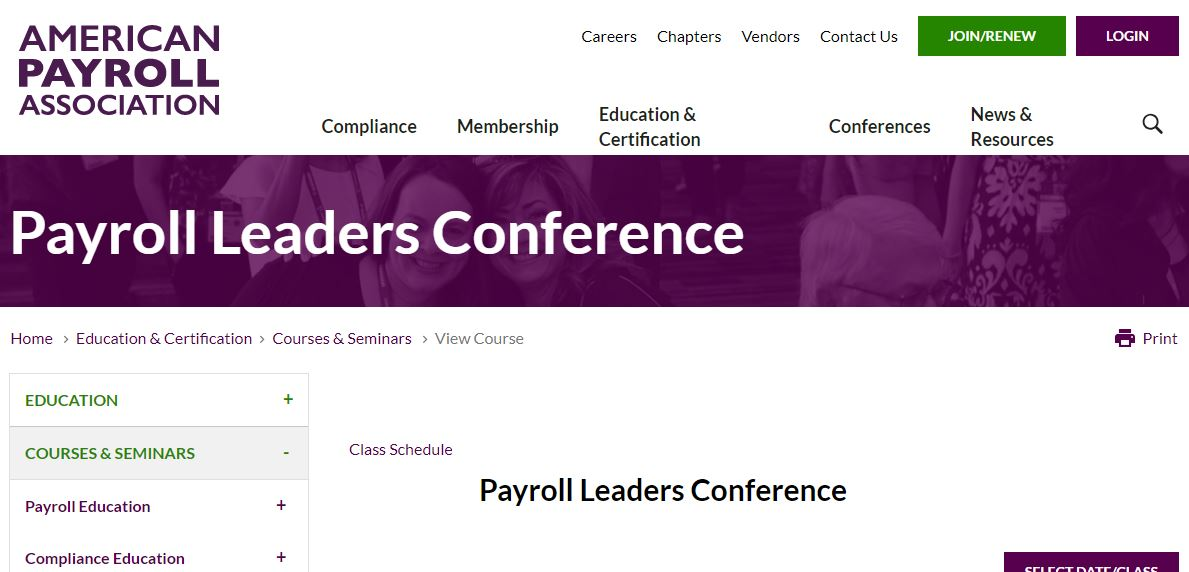 APA Payroll Leaders Conference