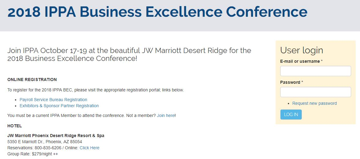 IPPA Business Excellence Conference