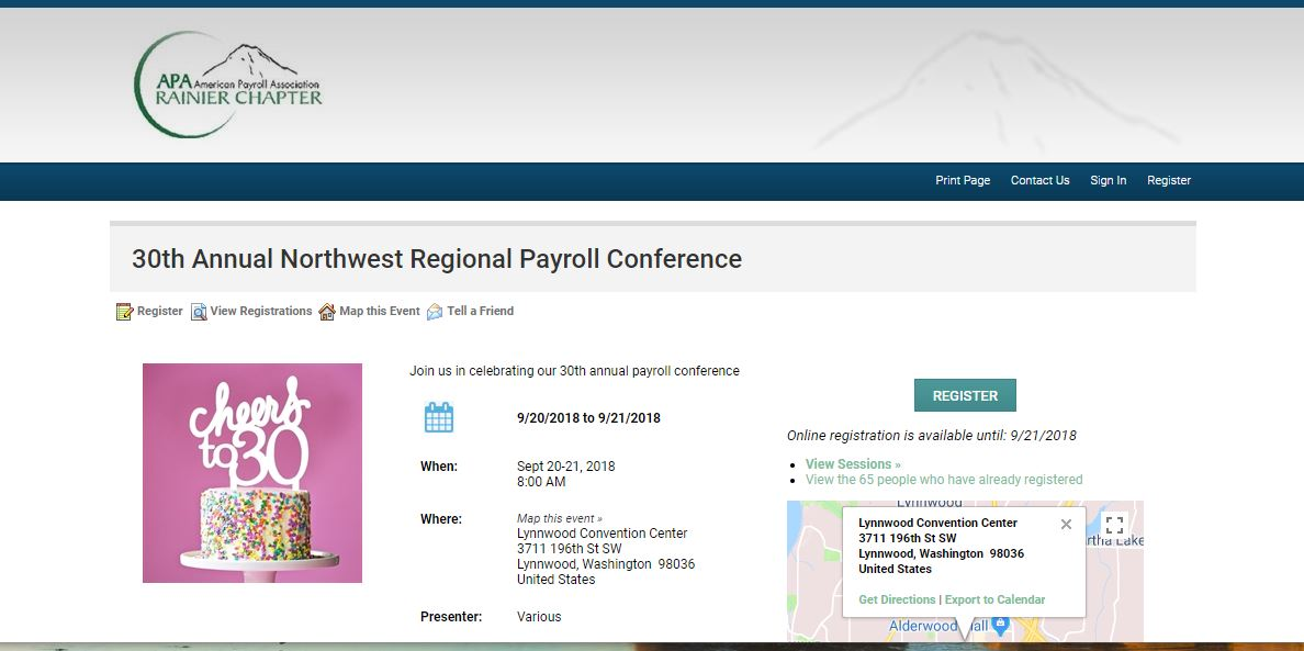 Rainier Chapter APA Conference