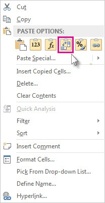 Right click menu transpose button