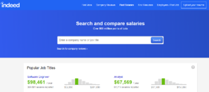 salary and wage comparison services websites - Indeed