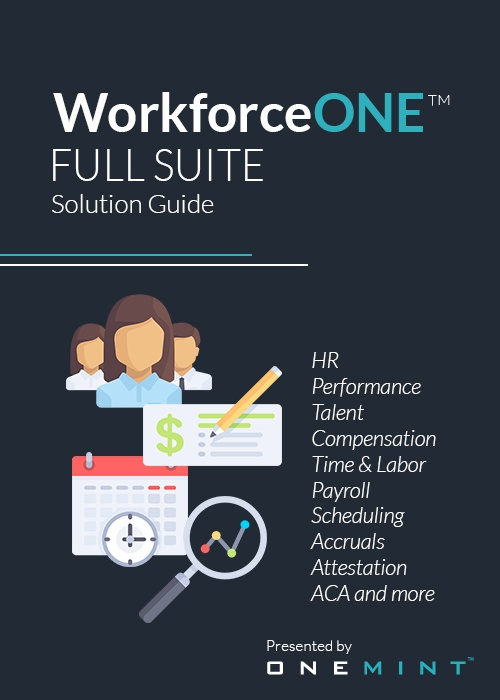 ONEMINT WorkforceONE Full Suite Solution Guide