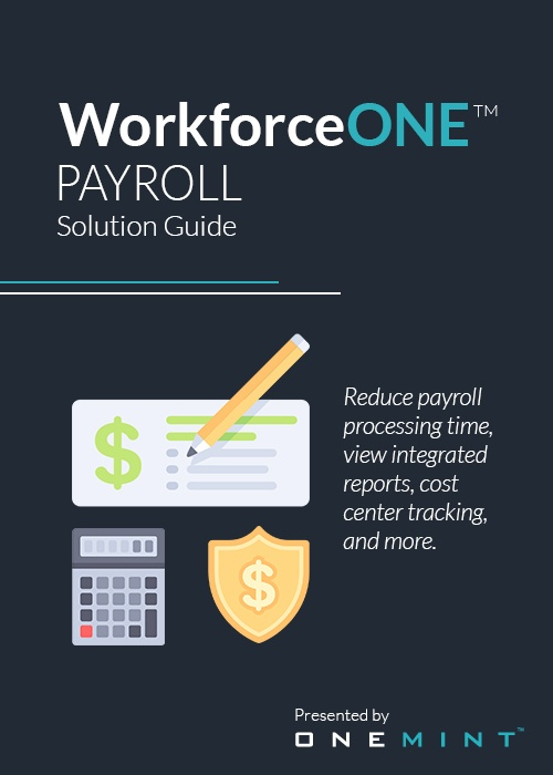 ONEMINT WorkforceONE Payroll Solution Guide