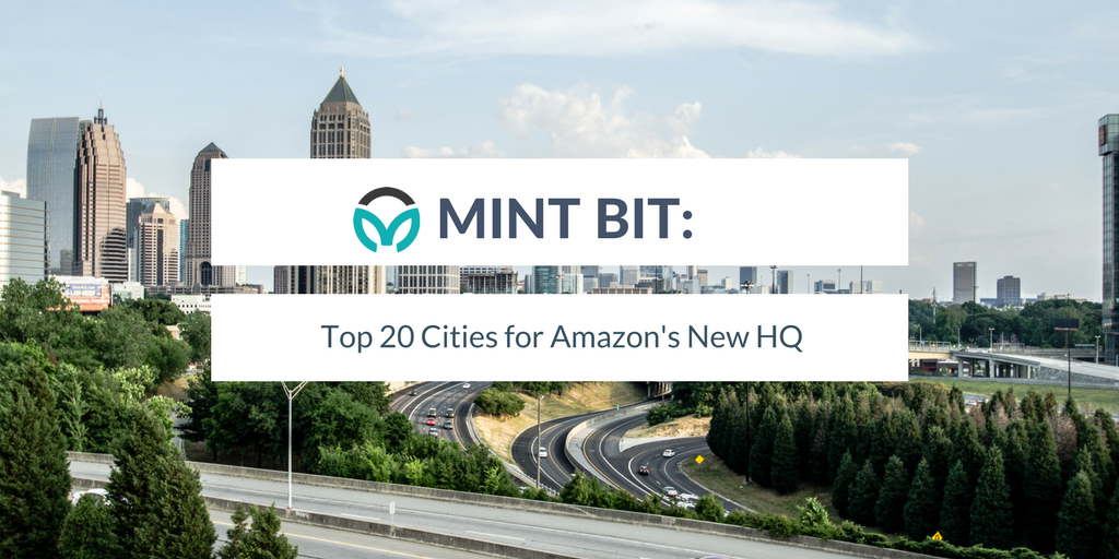 Mint Bit: Top 20 Cities for new Amazon HQ