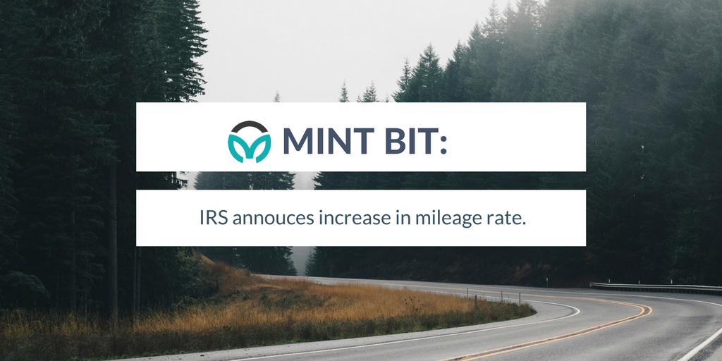 Mint Bit: IRS increases mileage rate